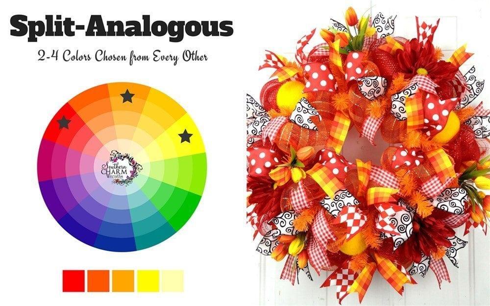 Split Analogous Wreath Colors