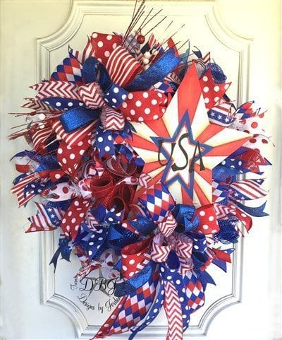 30 amazing 4th of july wreath ideas southern charm wreaths for Amazing wreaths