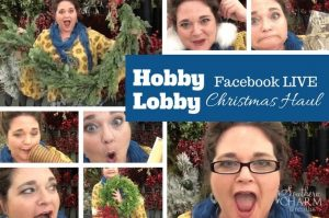 I'm doing a Facebook Live broadcast inside Hobby Lobby showing you my Christmas Haul