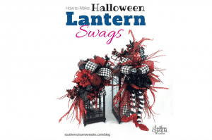 How to Make Halloween Lantern Swags by Southern Charm Wreaths
