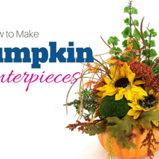How to make pumpkin centerpieces by Southern Charm Wreaths