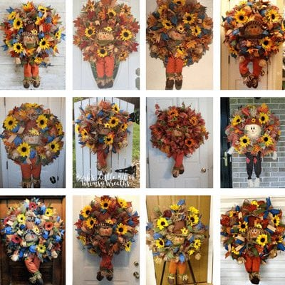 Wreath Month of the Club - How to Make a Fall Scarecrow Wreath