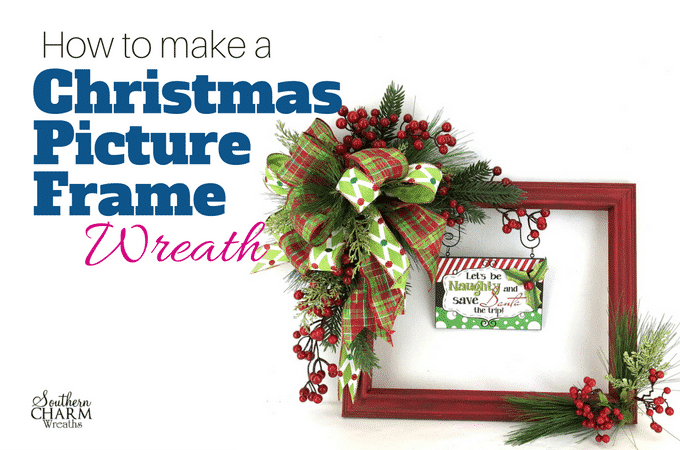How to Make the Popular Christmas Picture Frame Wreaths