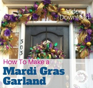 How to Make a Deco Mesh Garland Video by Julie Siomacco