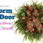 How to make a Slim Storm Door Christmas Wreath