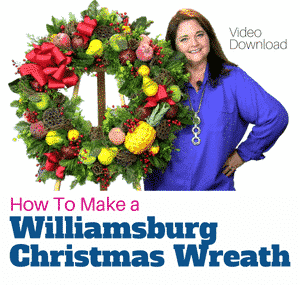 How to Make a Williamsburg Wreath