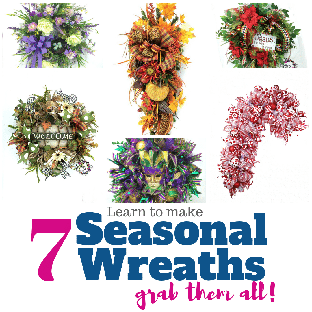 Bundle Package 7 Videos Total Southern Charm Wreaths