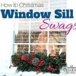 How to Make Christmas Window Sill Swags