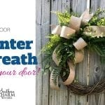 DIY Outdoor Winter Wreath For Your Door