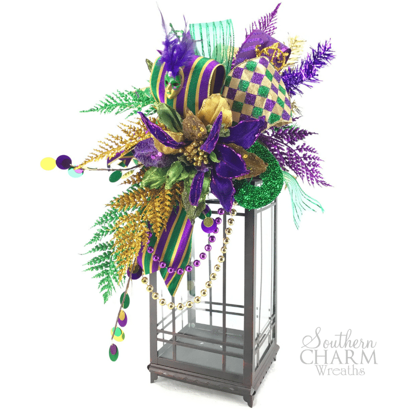How to Make a Mardi Gras Lantern Swag by Julie Siomacco