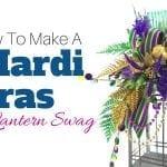 How to Make a Mardi Gras Lantern Swag Centerpiece