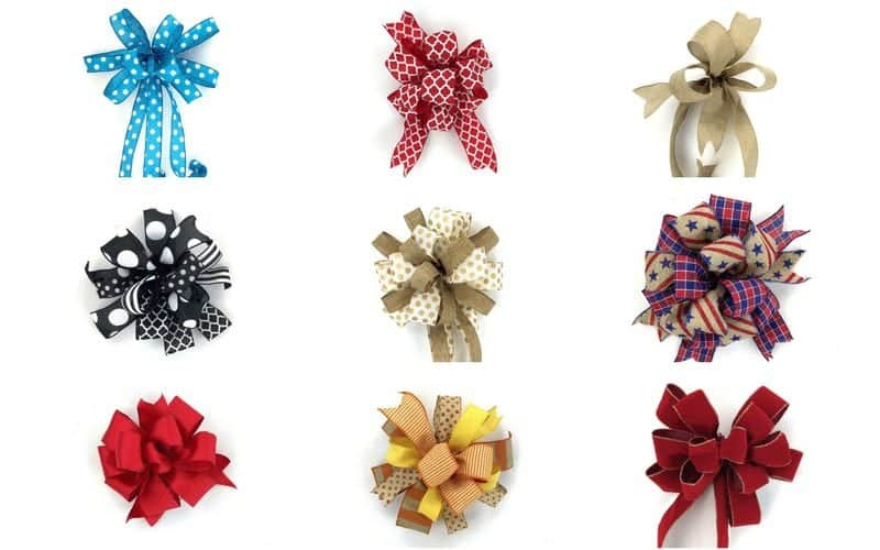 9 Ways to Make a Bow For A Wreath Free Video Tutorial.