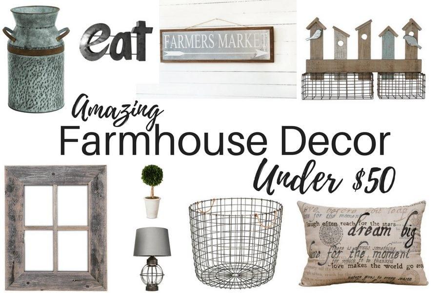 Amazing Farmhouse Decor Under $50
