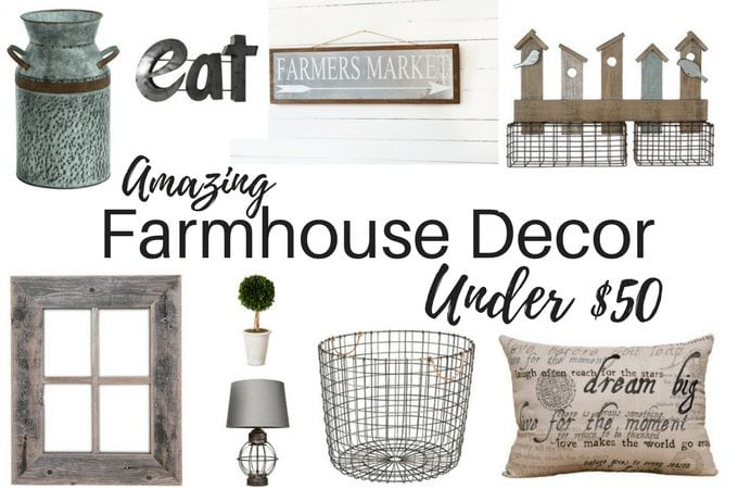 Amazing Farmhouse Decor Under $50