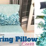 DIY No Sew Spring Pillow Cover Tutorial