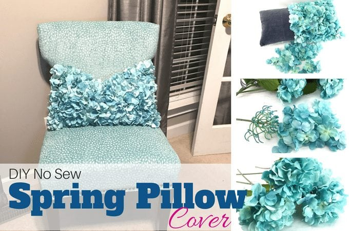 DIY No Sew Spring Pillow Cover