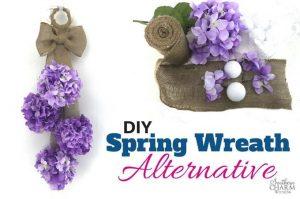 DIY Spring Wreath Alternative