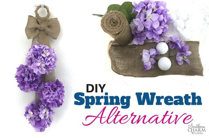 DIY Spring Wreath Alternative
