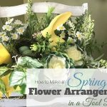 How to Make a Simple Spring Flower Arrangement in a Toolbox