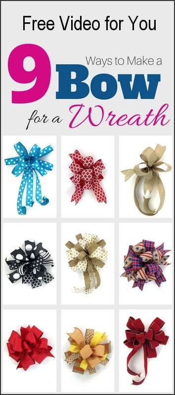 9 Ways to Make a Bow for a Wreath free video