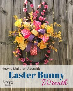 How to Make an Easter Bunny Wreath by Southern Charm Wreaths