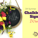 DIY Chalkboard Sign Wreath for Summer