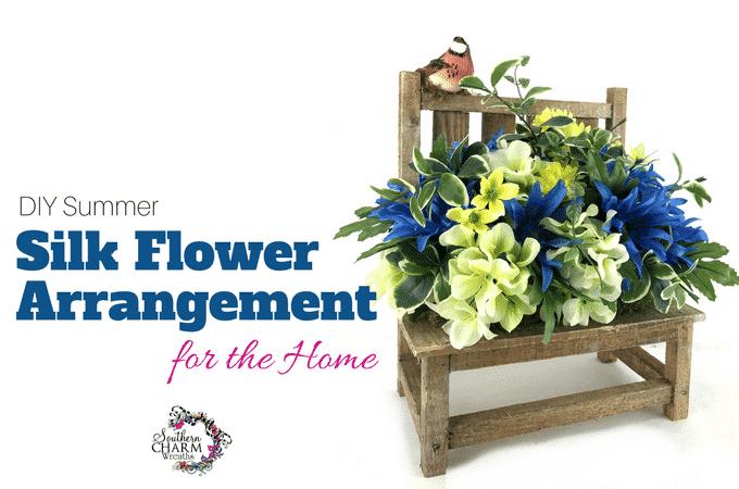 Silk flower arranging for dummies archives southern charm wreaths diy summer silk flower arrangement for home mightylinksfo