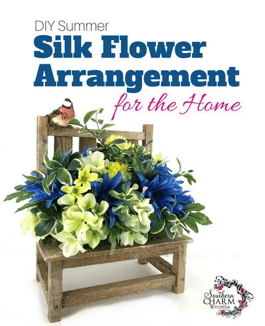 Diy summer silk flower arrangement for home southern charm wreaths diy summer silk flower arrangement for home mightylinksfo