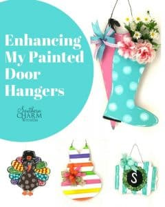 How to enhance your painted door hangers by Southern Charm Wreaths
