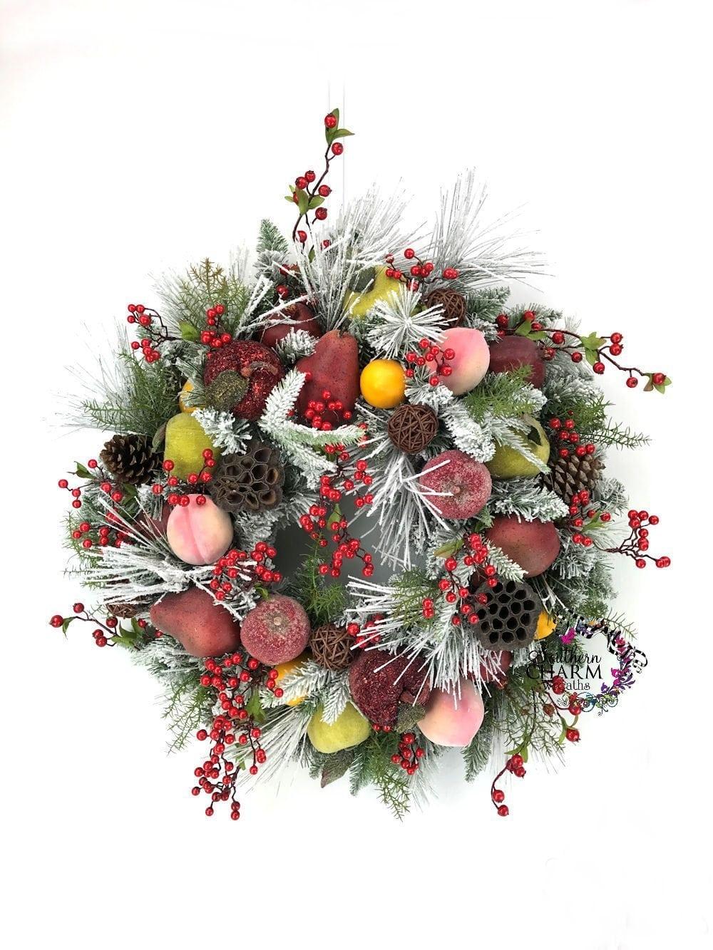 How to make a Williamsburg Christmas Wreath