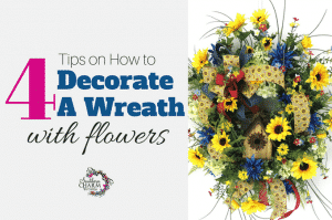 4 Tips on How to Decorate a Wreath with Flowers