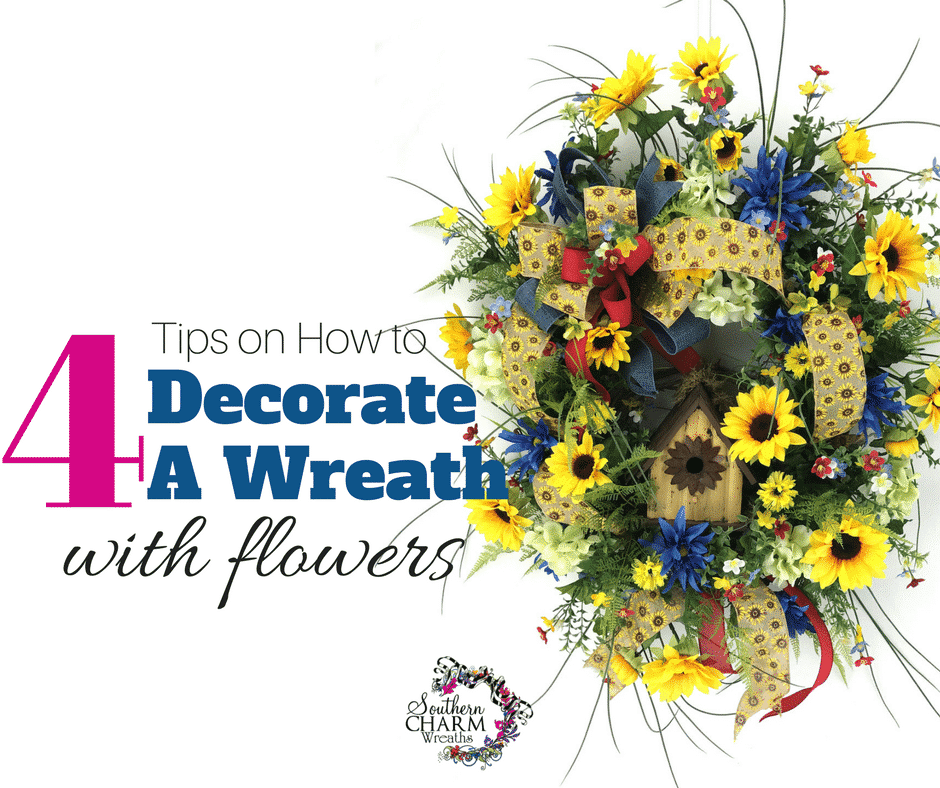 4 tips on how to decorate a wreath with flowers facebook for Decorate pictures for facebook