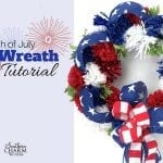 Easy 4th of July Wreath Tutorial