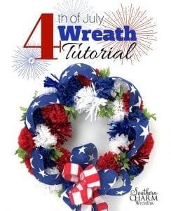 Easy 4th of July Wreath Tutorial