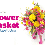DIY Summer Flower Basket for Front Door