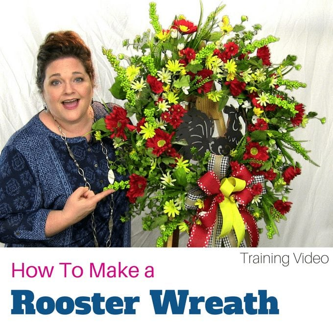 How to Make a Rooster Christmas Wreath (1)