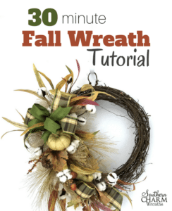 30 Minute Fall Wreath Tutorial by Southern Charm Wreaths