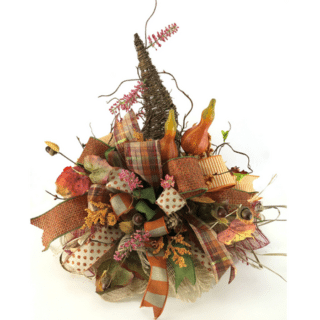 DIY Fall Scarecrow Hat Centerpiece by Southern Charm Wreaths