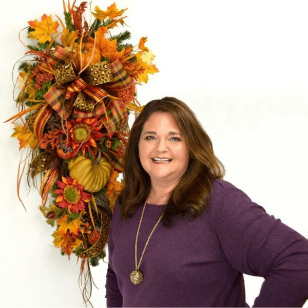 Step by Step how to make a Fall Teardrop Swag by Southern Charm Wreaths
