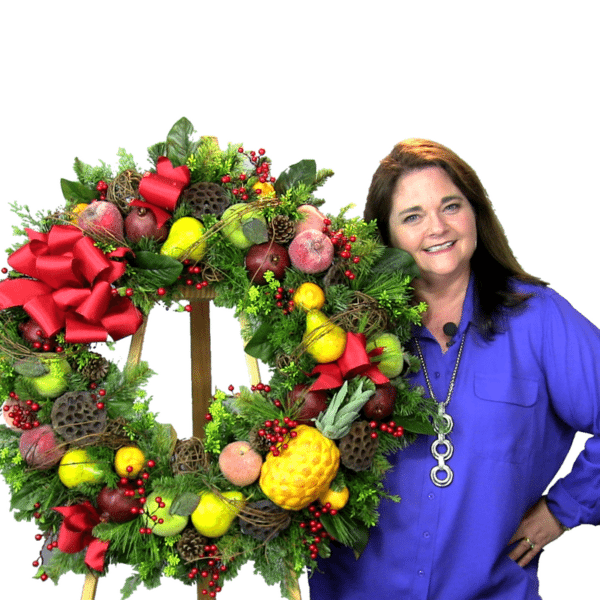 Step by Step how to make a popular Williamsburg Christmas Wreath Tutorial by Southern Charm Wreaths