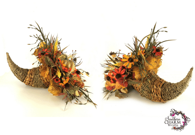 Fall Cornucopia Centerpiece Tutorial With Silk Flowers
