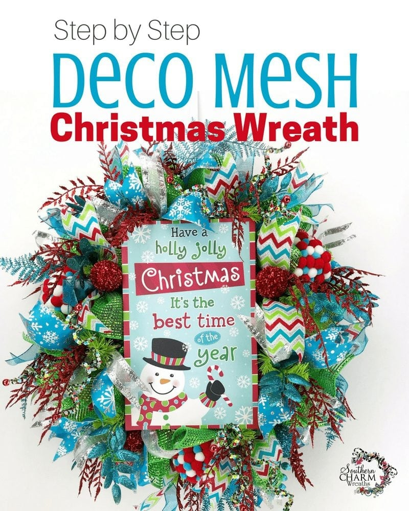 Step By Step Deco Mesh Christmas Wreath Tutorial