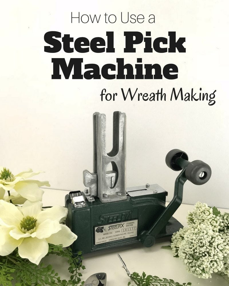 How to use a steel pick machine for wreath making by www.southerncharmwreaths.com #wreaths