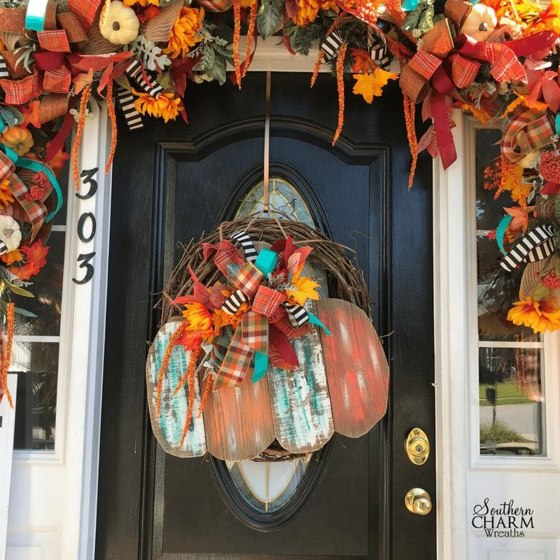 How to jazz up a door sign using silk flowers by Southern Charm Wreaths