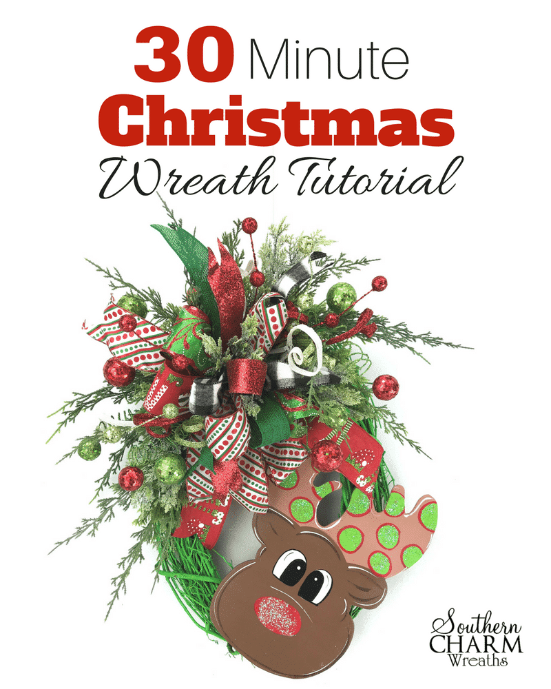 30 Minute Christmas Wreath Tutorial by Southern Charm Wreaths