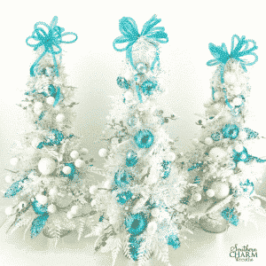 Cute DIY Christmas Tree topiary for your Christmas mantle or table by Southern Charm Wreaths