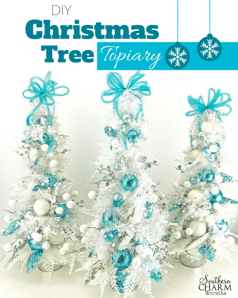 DIY Christmas Tree Topiary for Your Table | Southern Charm Wreaths