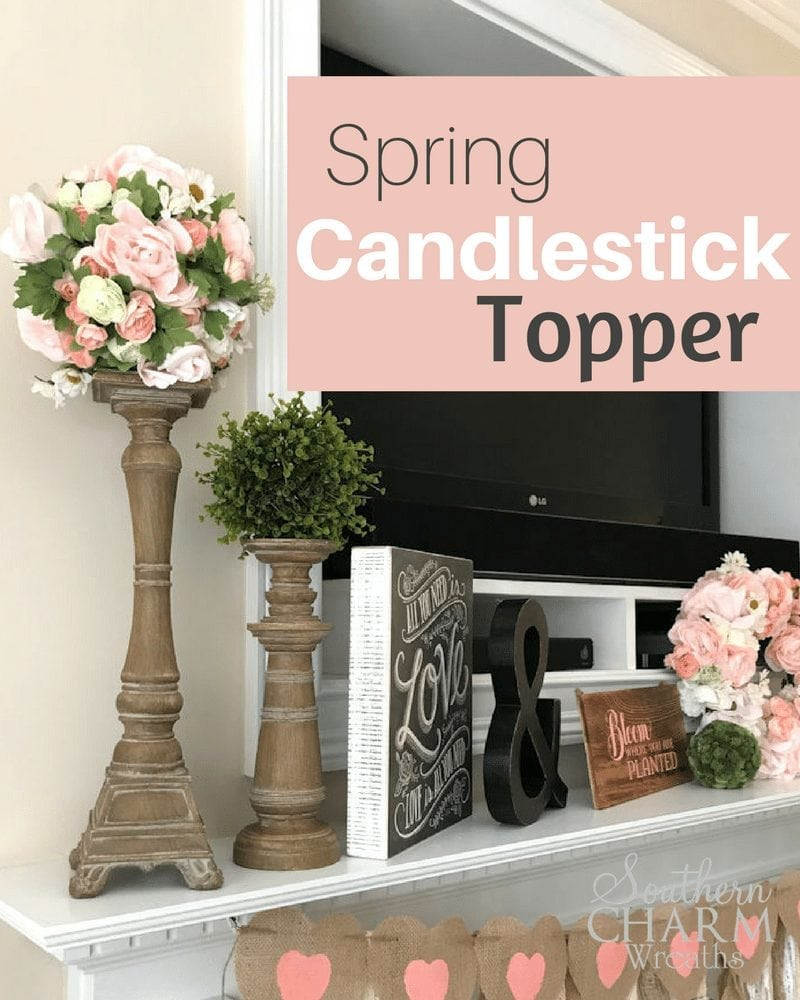 DIY Simple Spring Candlestick Topper