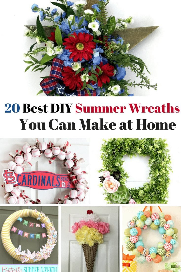 d4c7f0a98eb57 20 Best DIY Summer Wreaths You Can Make at Home