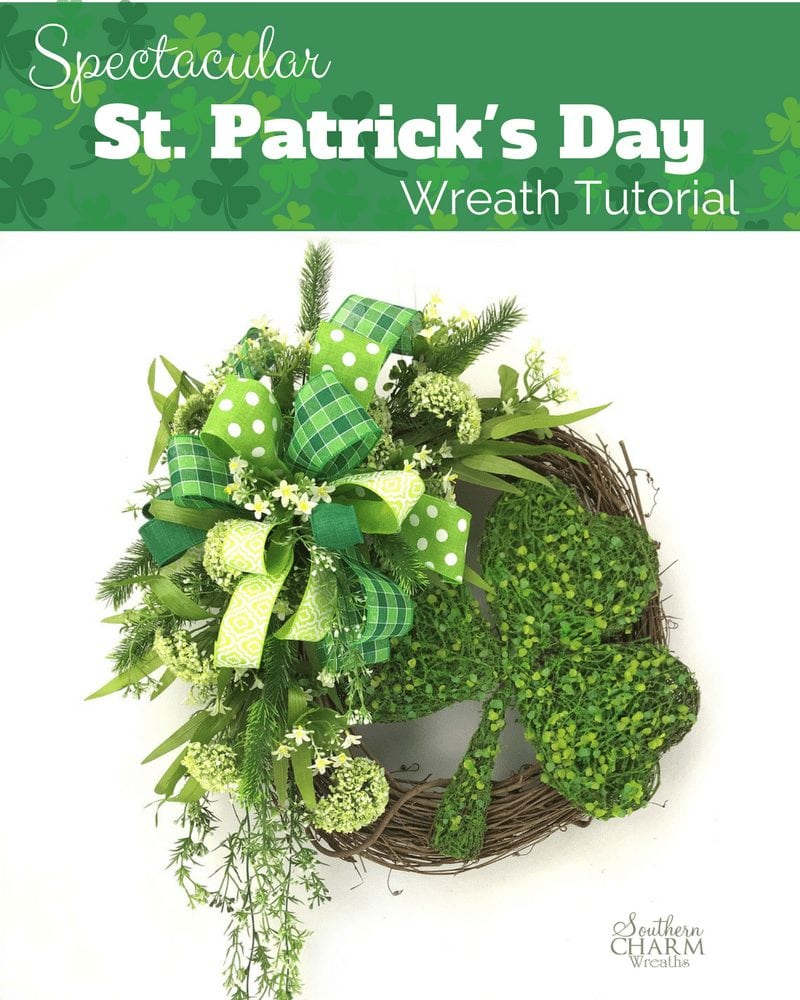 Spectacular St. Patrick's Day Wreath Tutorial by Julie Siomacco Southern Charm Wreaths